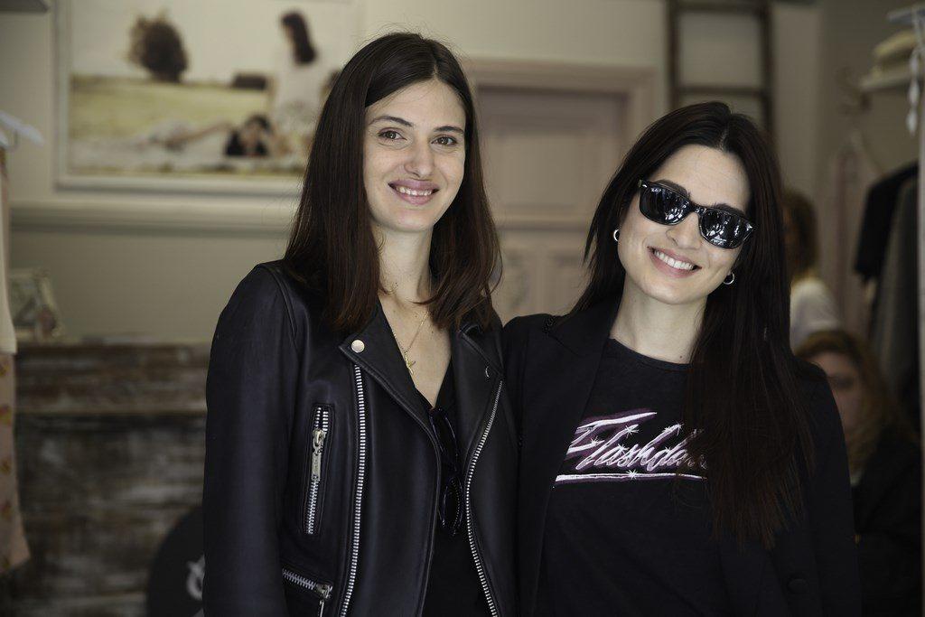 Carla Moure y Mía Flores Piran acompañaron a su cuñada, Julieta Ortega, en la inauguración de su local Jota & Co
