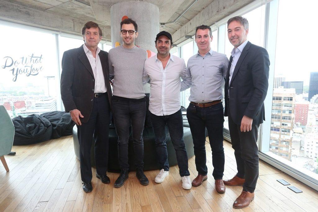 Carlos Becco, Pato Fuks, Matías Casoy, Axel Abulafia y Alejo Rodriguez Cacio, en el encuentro de empresas unicornios en WeWork