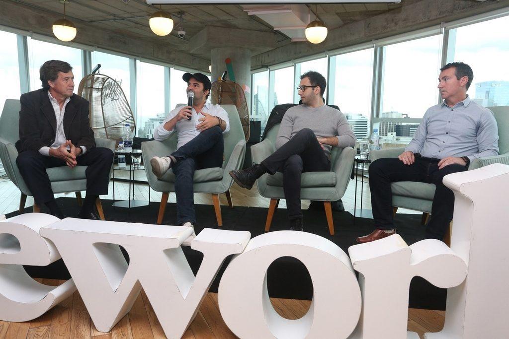 Carlos Becco, Pato Fuks, Matías Casoy y Axel Abulafia, panelistas del encuentro de empresas unicornios en WeWork (3)