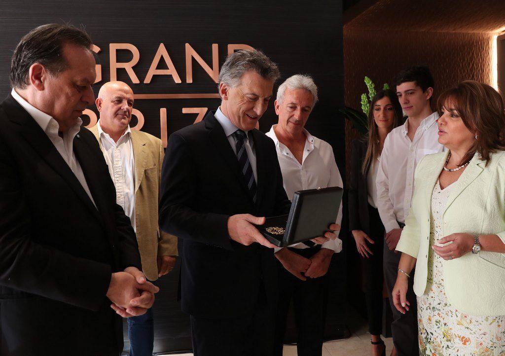 Mauricio Macri en la apertura del nuevo hotel Grand Brizo Buenos Aires
