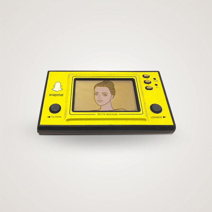 Artista Thomas Olliver convierte tecnologías de hoy en objetos de los 80's (7)