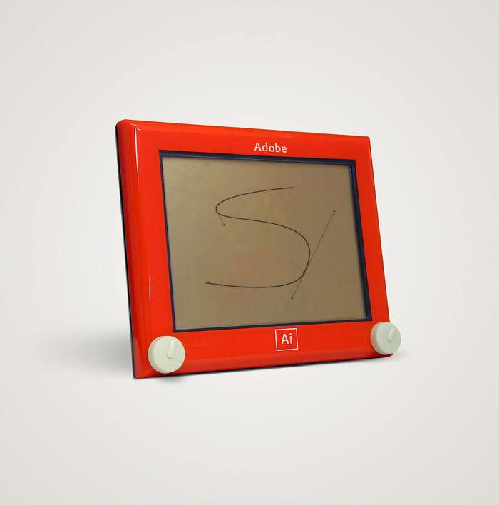 Artista Thomas Olliver convierte tecnologías de hoy en objetos de los 80's (8)