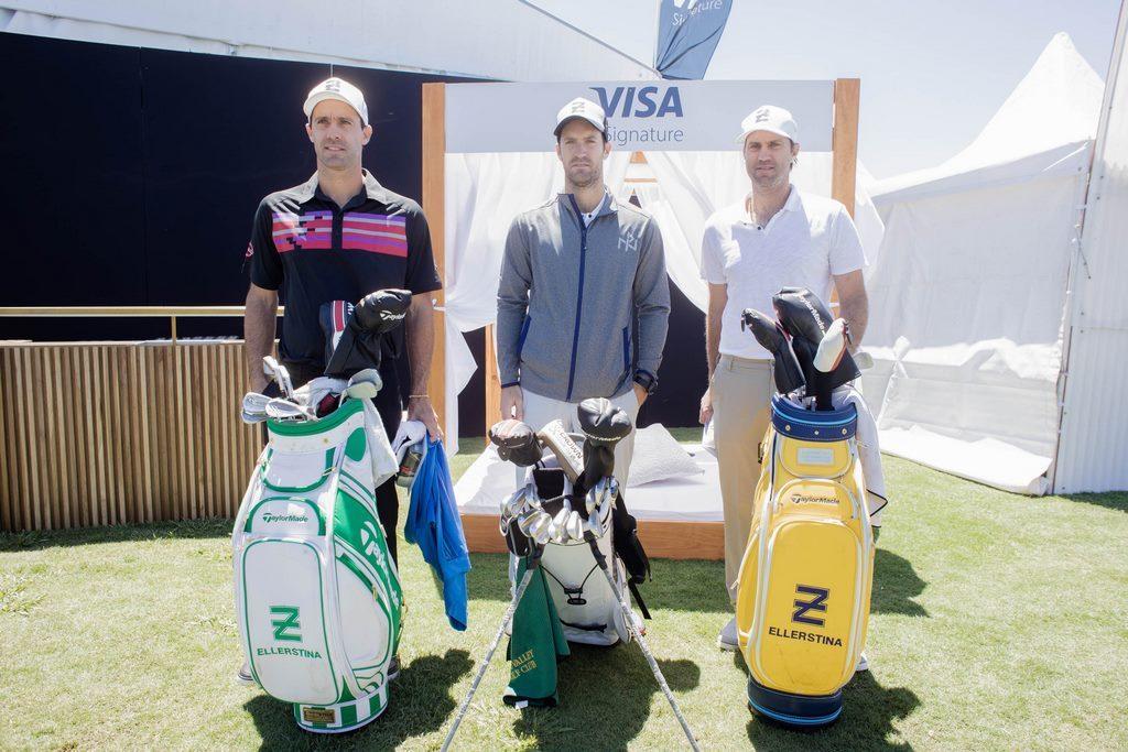 Facundo, Nicolás y Gonzalo Pieres en el Pro-Am del 113º VISA Open de Argentina