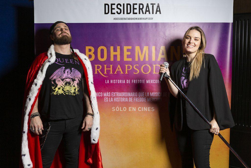 German Tripa y Flor Otero en el estreno de Bohemian Rhapsody. Avant premier de Desiderata
