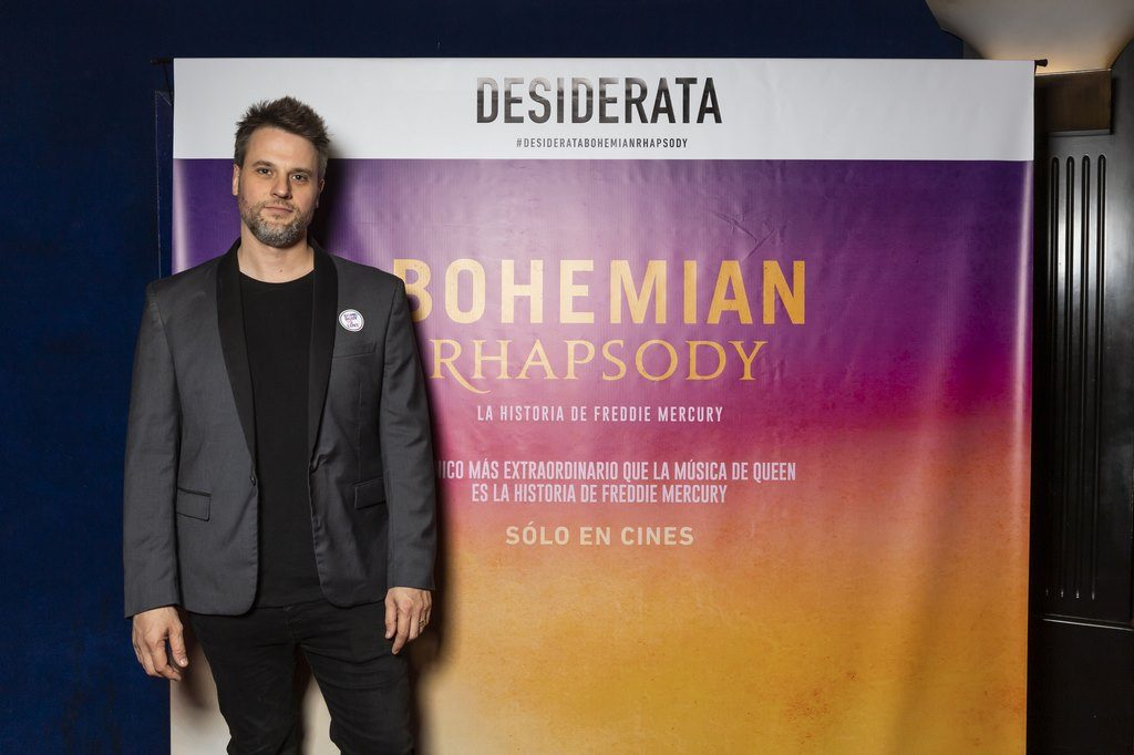 Geronimo Rauch En el estreno de Bohemian Rhapsody. Avant premier de Desiderata