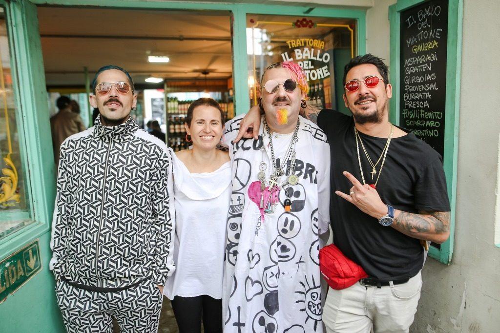 Julián Moncalvo, Gimena Pelliza, Adrián Francolini y Marcianos Crew