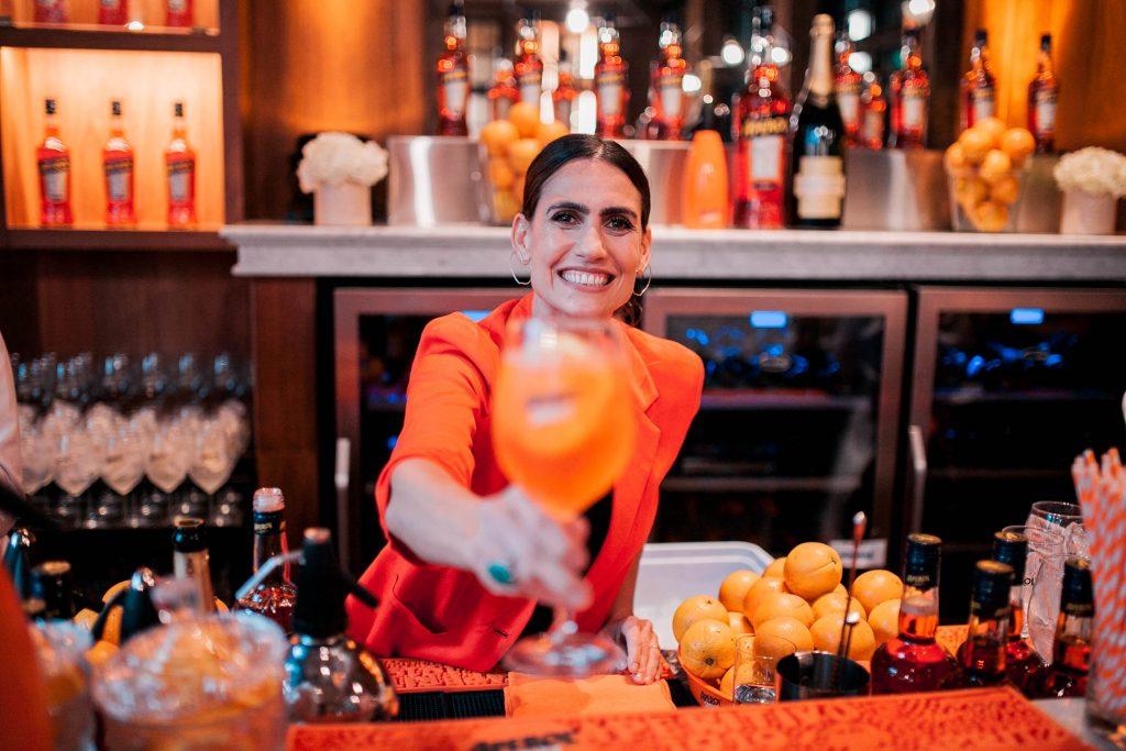 Mona Gallosi en el lanzamiento de la #TemporadaSpritz 3M