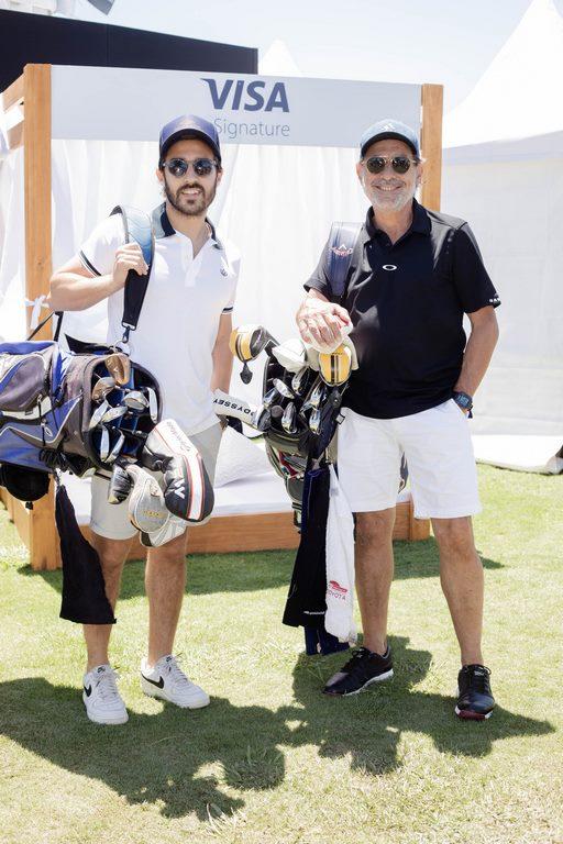 Nicolás y Guillermo Francella en el Pro-Am del 113º VISA Open de Argentina