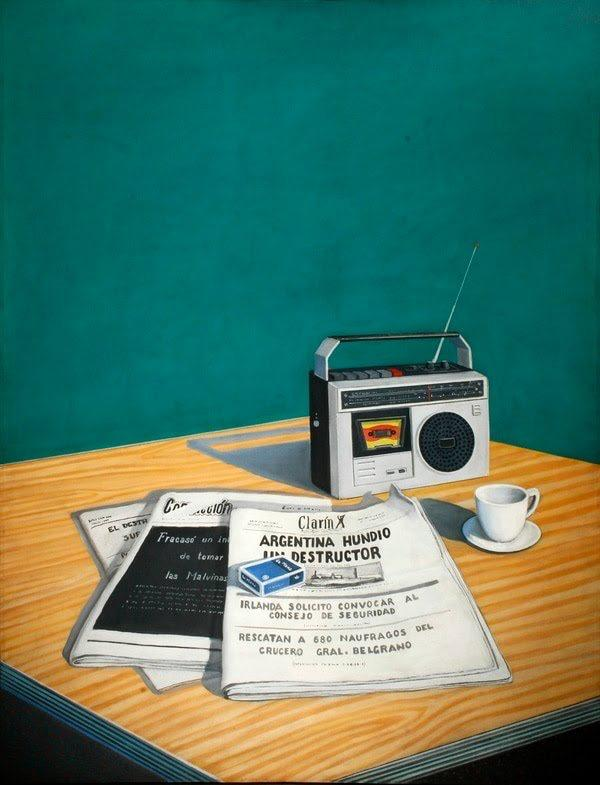 Pablo Suarez. Tiempos de guerra, 1982. Óleo sobre tela. 160 x 120 cm Cred. Ana Granel