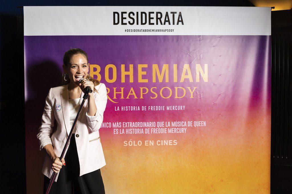Rochi Igarzabal en el estreno de Bohemian Rhapsody. Avant premier de Desiderata
