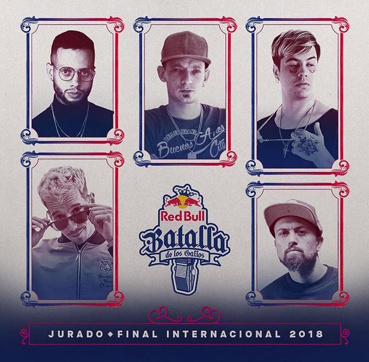 El jurado de Red Bull Batalla de Gallos