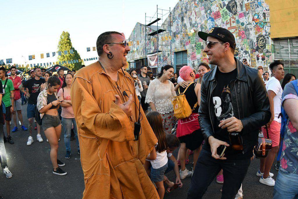 Adrián Francolini, creador de Festival Al Dente, junto a Esteban Lamothe