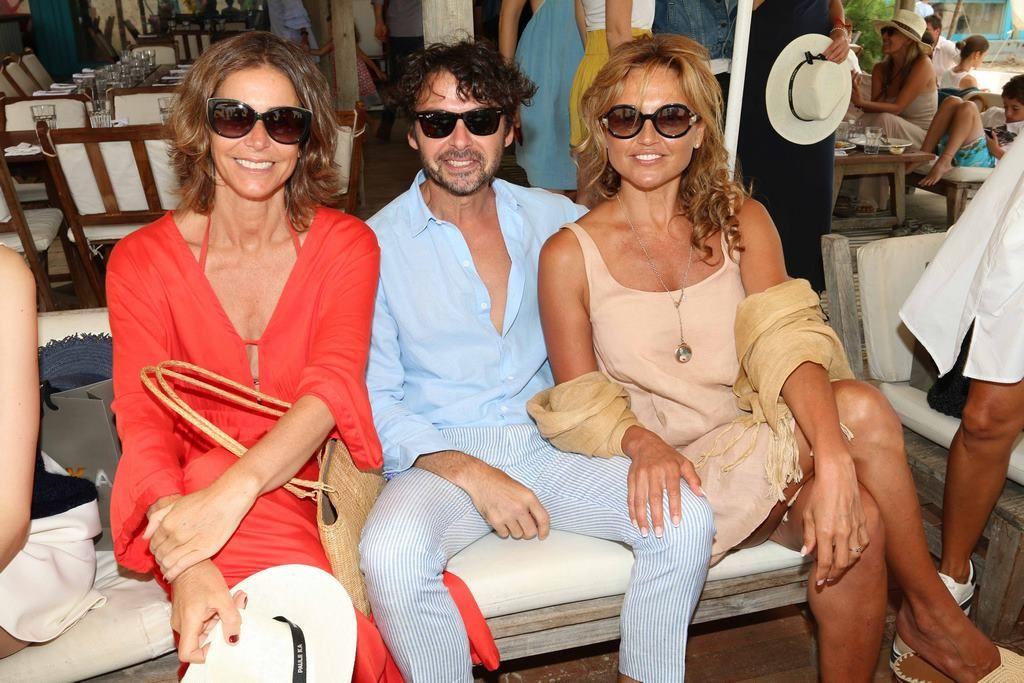 Azul García Uriburu, Wally Diamante y Pamela Saguier en el almuerzo de Paule Ka en La Huella