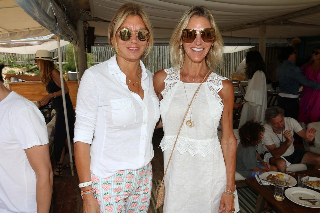 Bettina Bulgheroni y Catherine Roemmers en el almuerzo de PAULE KA en La Huella