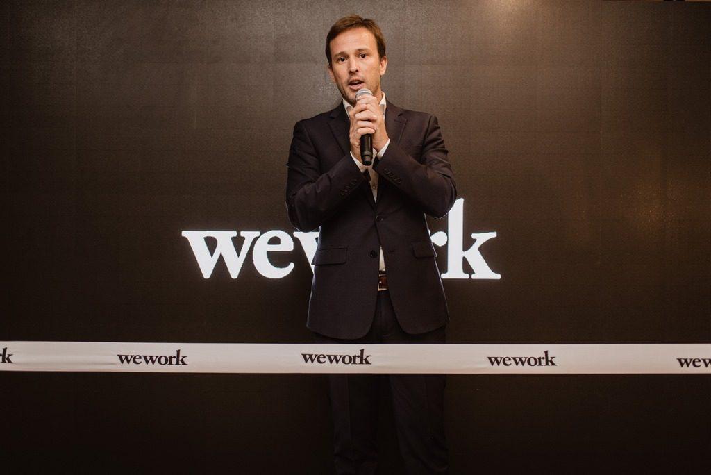 Carlos Gareis, Deputy Head de WeWork Latam, en la apertura de WeWork en Ing. Enrique Butty