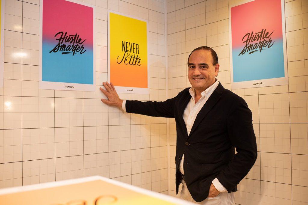 Carlos Ruiz La Puente, abogado y empresario uruguayo, en la apertura de WeWork en Ing. Enrique Butty