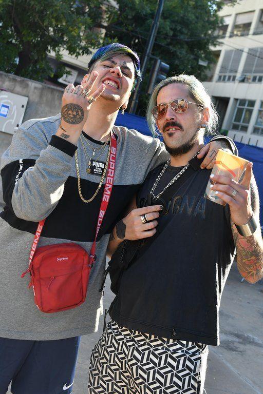 Duki y Julián Moncalvo en Festival Al Dente
