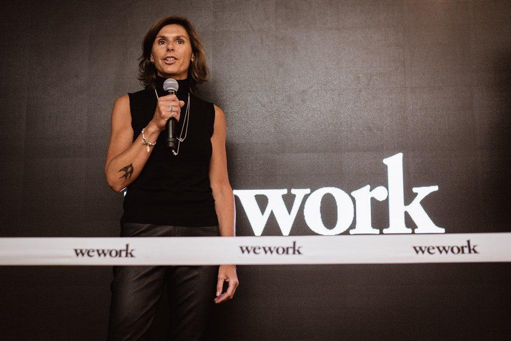Fer Pirosanto, Country Manager de Pandora Argentina y miembro de WeWork, en la apertura de WeWork en Ing. Enrique Butty
