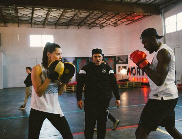 Puma Performance unió en el ring a la súper modelo Adriana Lima y a Usaín Bolt, el corredor más rápido del mundo
