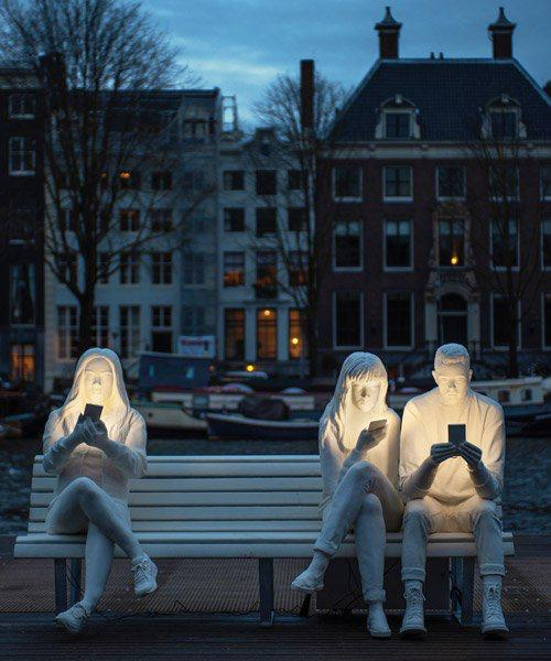 absorbed by light' adicción smartphone amsterdam light festival 2018 loqueva (1)