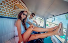 Julian Serrano y Zaira Nara en Havaianas