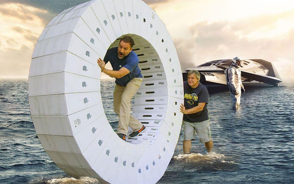 Un par de nerds hicieron una iWheel con 36 cajas de iMac (8)