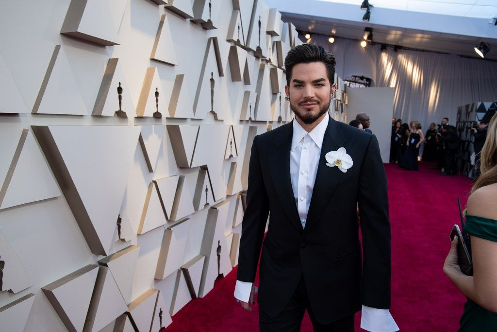 Adam Lambert arrives on the red carpet of The 91st Oscars® at the Dolby® Theatre in Hollywood, CA on Sunday, February 24, 2019.