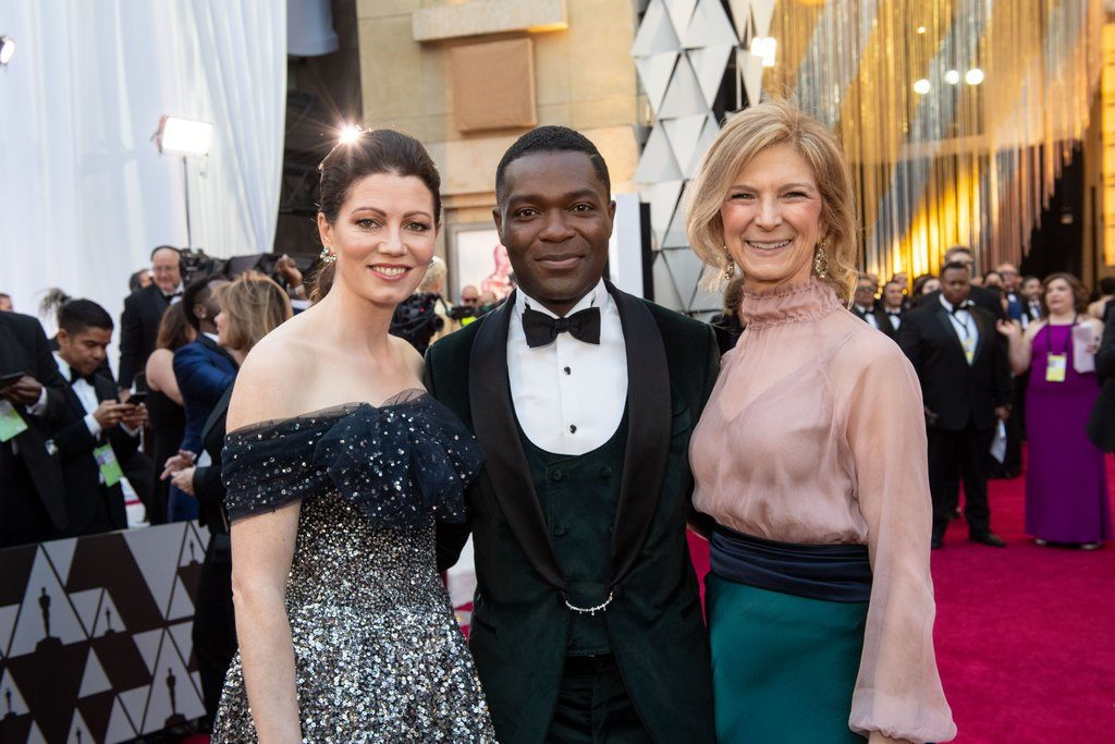 David Oyelowo (C) and Jessica Oyelowo, Academy CEO Dawn Hudson arrive on the red carpet of The 91st Oscars® at the Dolby® Theatre in Hollywood, CA on Sunday, February 24, 2019.