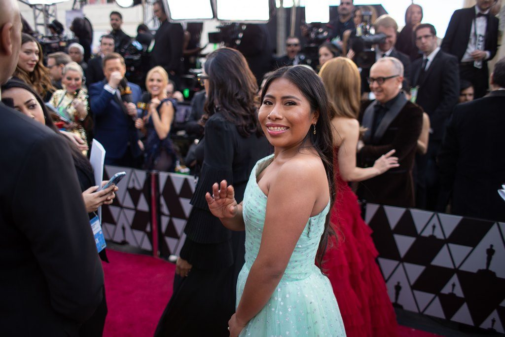 Yalitza Aparicio, Oscar® nominee, arrives on the red carpet of The 91st Oscars® at the Dolby® Theatre in Hollywood, CA on Sunday, February 24, 2019.