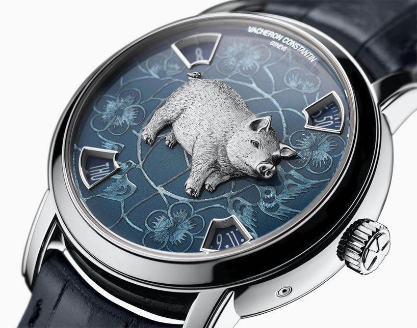 El fabricante de relojes y relojes de lujo suizo Vacheron Constantin y esta edición de platino.