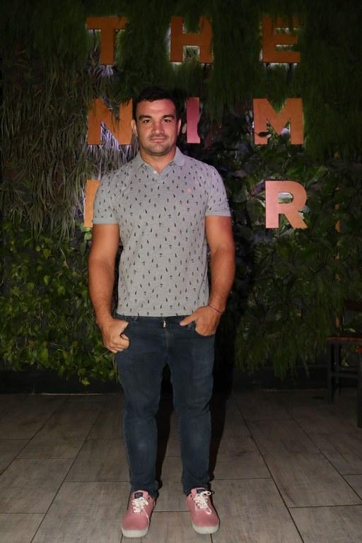 Agustín Creevy en la apertura de The Nim Bar