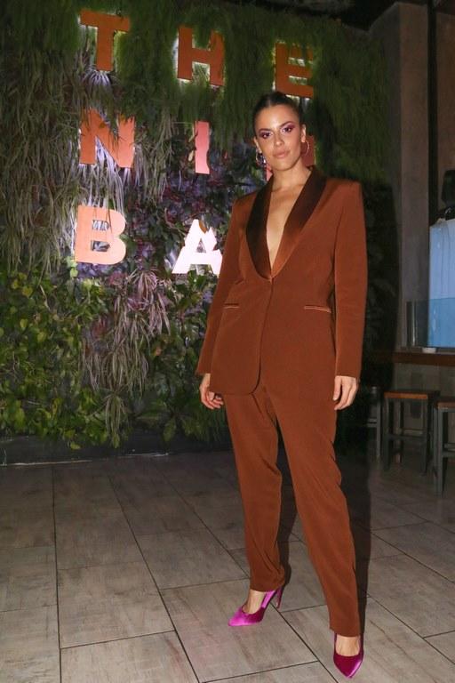 Agustina Marzari en la apertura de The Nim Bar