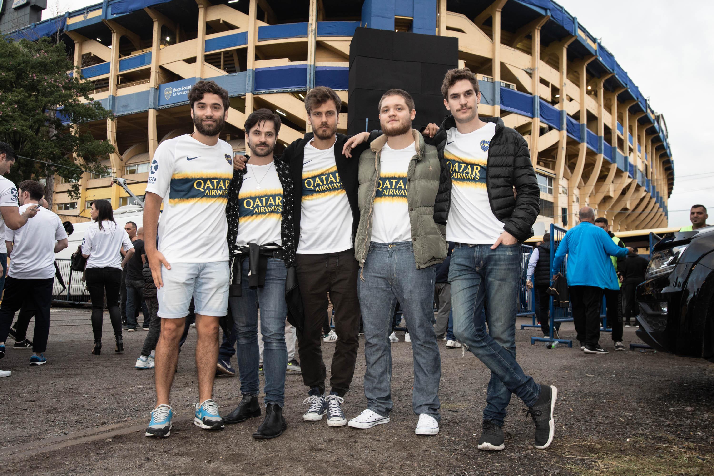 Gabriel Galiachio, Felipe Colombo, Andrés Gil, Toto Kirzner y Matías Mayer invitados por Qatar Airways a alentar a Boca vs Tolima