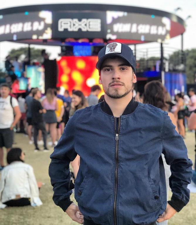 Albert Baró en el espacio Axe Lollapalooza 2019