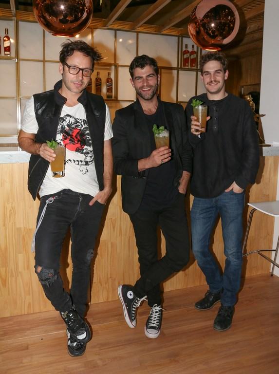 Benajmín Vicuña, Matias Mayer y Diego Dominguez en la inaguración de JW House