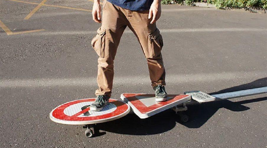 Benedetto Bufalino  tabla de skate señal de transito home