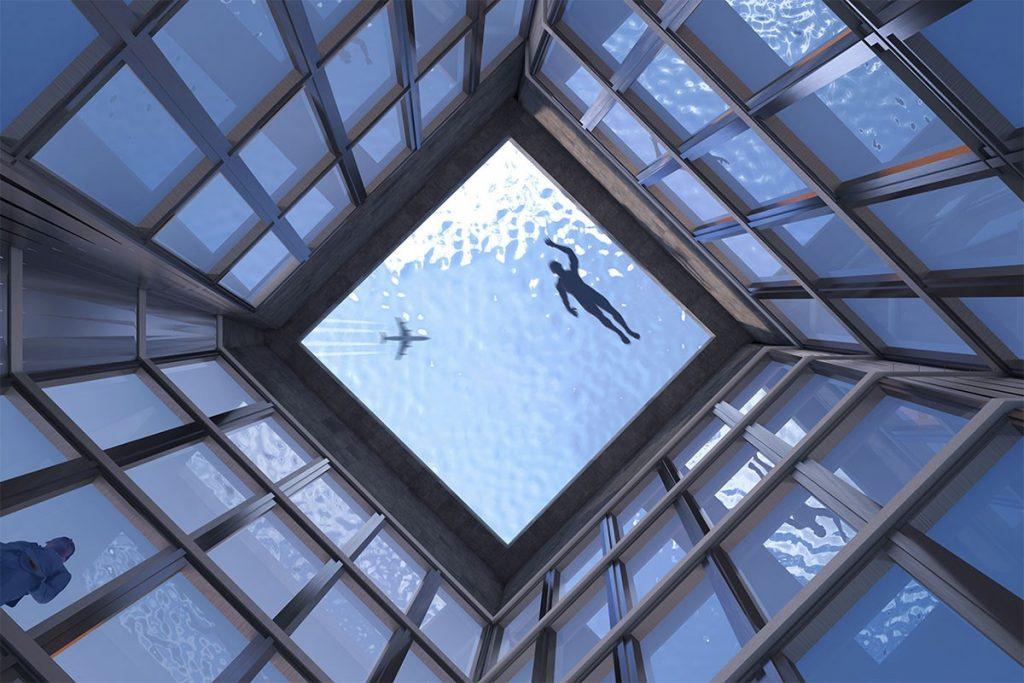 Primera pileta infinity 360 grados en la terraza de un edificio (3)