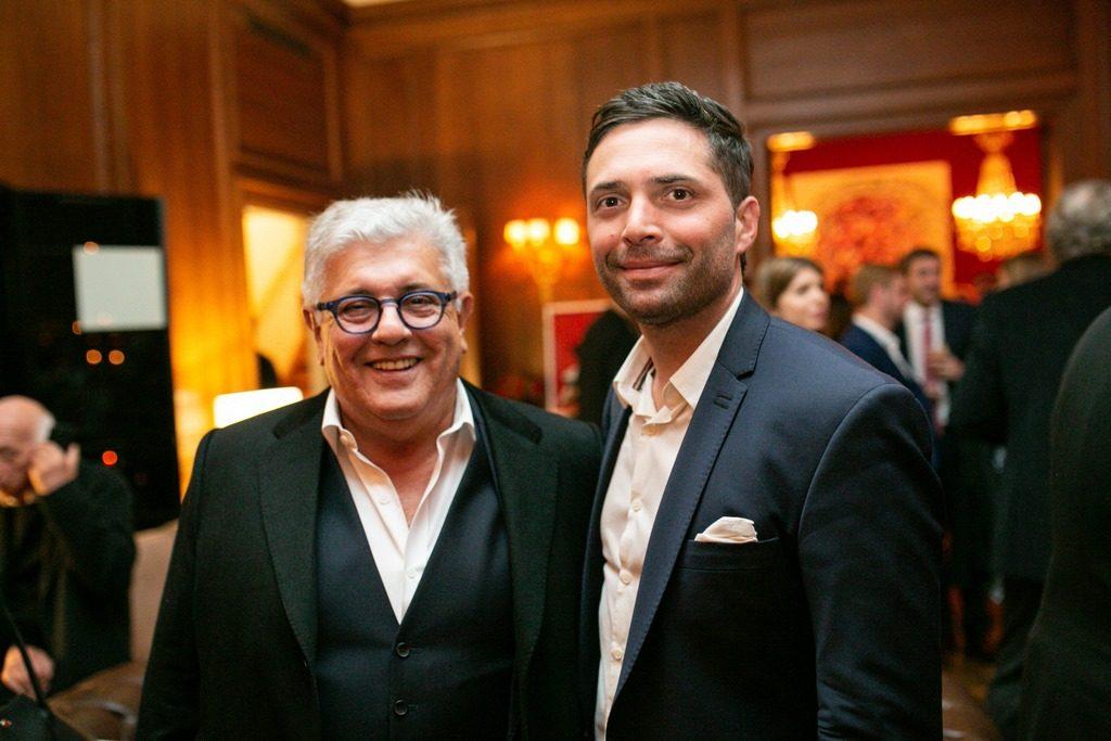 Carlos Gorosito y Francisco Pietro Cane en la presentación de Faena Catering