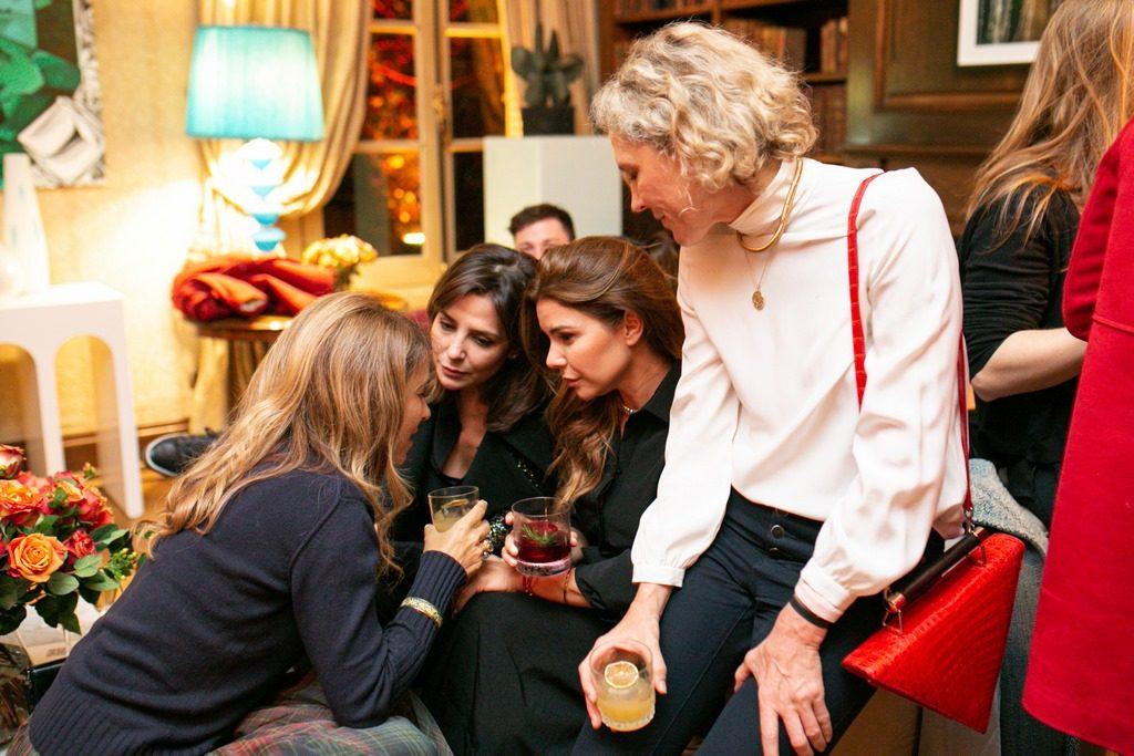 Sandra Hillar, Romina Pigretti y Alexandra de Royere en la presentación de Faena Catering