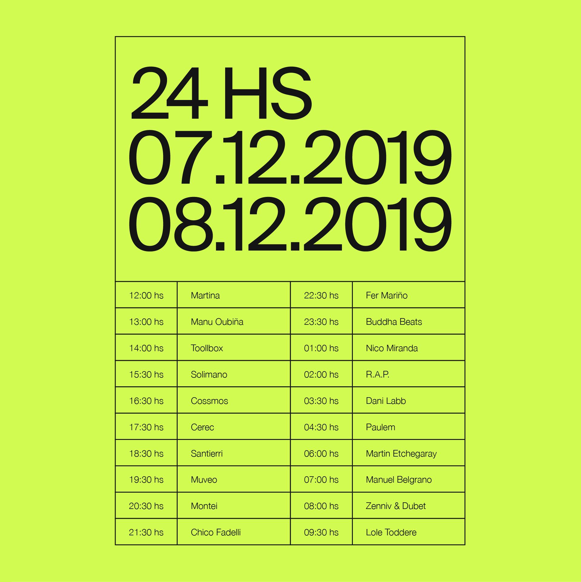 24HS - Line Up (Instagram Post) B