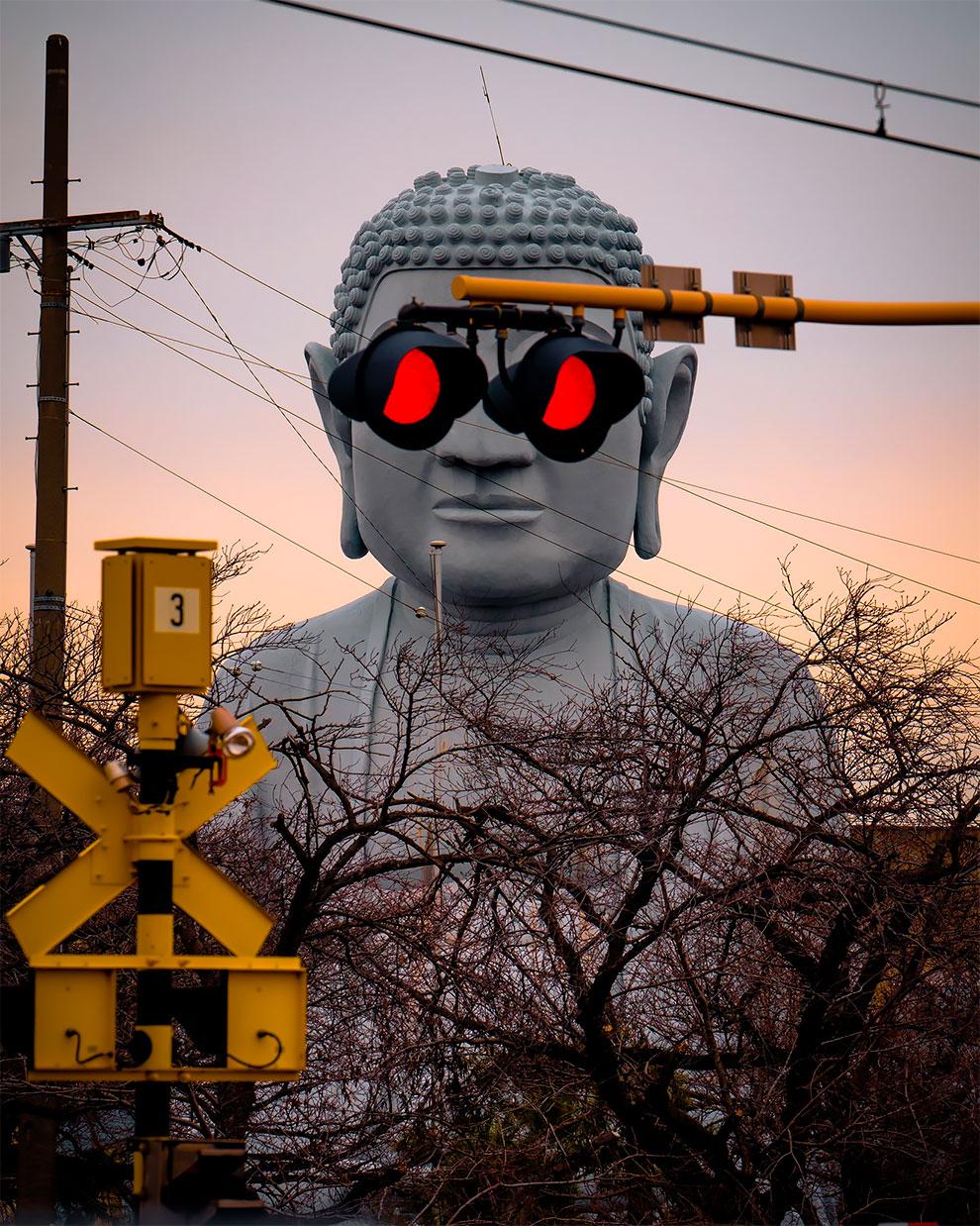 El Gran Buda en Japón está cada vez más canchero (2)