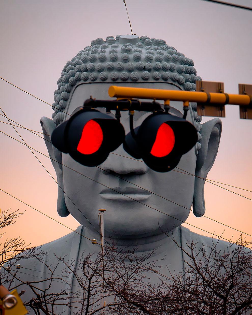 El Gran Buda en Japón está cada vez más canchero (3)