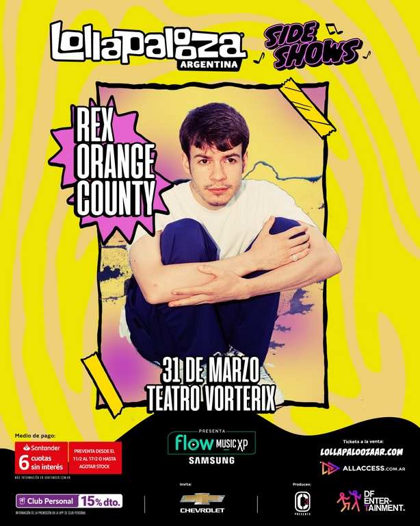 lollapalooza argentina 2020 sideshows loqueva_Rex Orange County