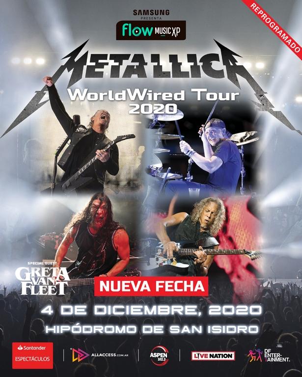 El show de Metallica en Argentina se reprogramó para diciembre (2)