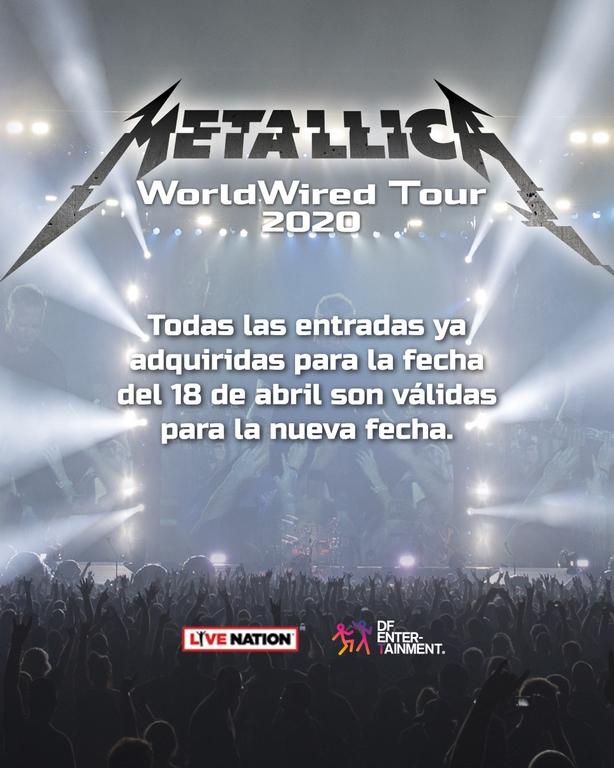 El show de Metallica en Argentina se reprogramó para diciembre (4)