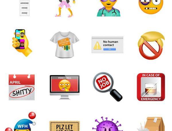 Emojis del Coronavirus, aislamiento y home office, listos para descargar estudio &Walsh (1)