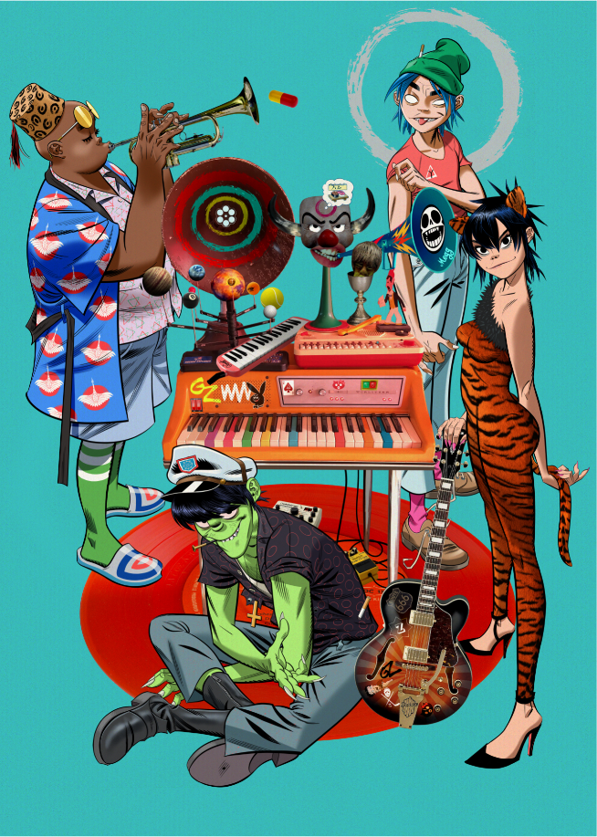 Gorillaz presenta su nuevo single Aries ft. Peter Hook y Georgia
