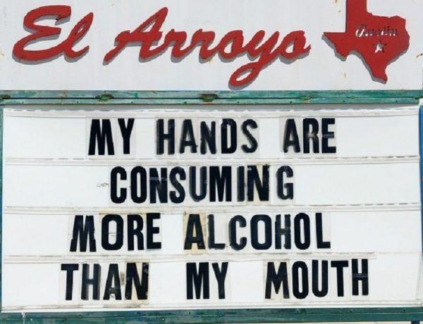Mis manos están consumiendo más alcohol que mi boca
