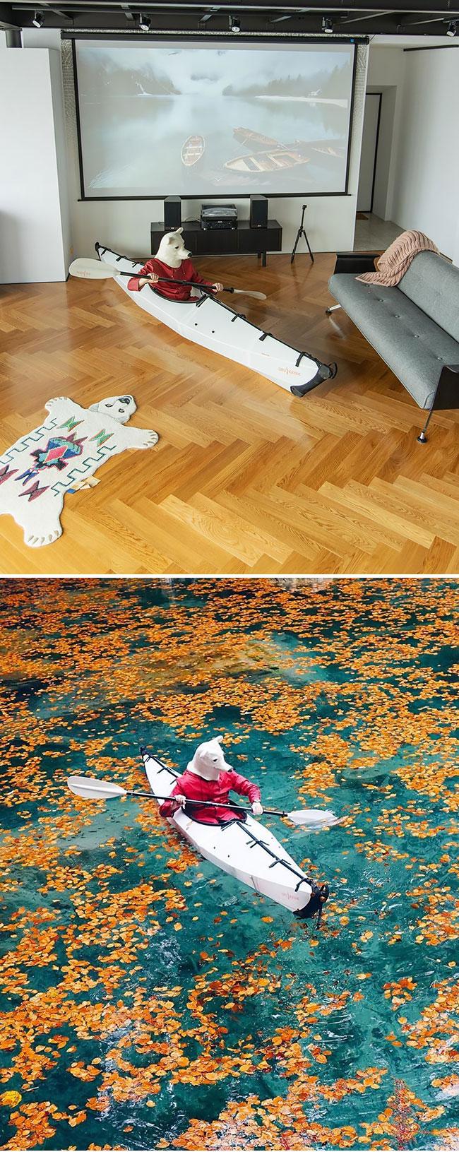 en cuarentena Elnar Mansurov repitió fotos de sus viajes en su departamento  (5)