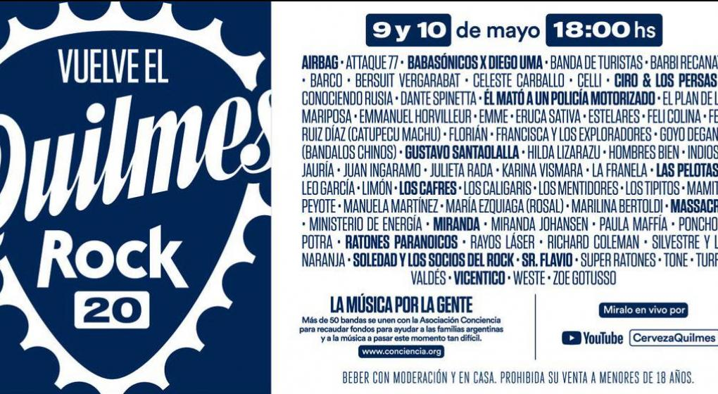 quilmes rock 2020 line up